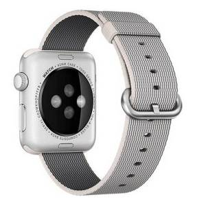 Apple Curea pentru Apple Watch 42 mm iUni Woven Strap, Nylon, White Gray