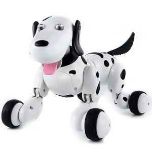Robot Catel interactiv iUni Smart-Dog, 24 comenzi, Alb-Negru
