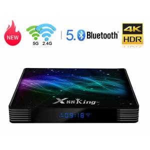 Mini PC TV Box Techstar® X88 King, 4K 60FPS, WiFi Dual Band 2.4 + 5GHz, GigabitEthernet 10/100/1000 4GB RAM + 128GB ROM, HDR