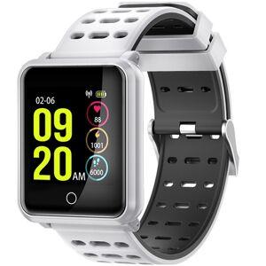 Bratara Fitness iUni M88 Plus, Display OLED, Bluetooth, Pedometru, Notificari, Android si iOS, Alb