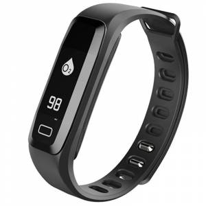Bratara fitness iUni G16, Bluetooth, LCD ,Notificari, Pedometru, Monitorizare Sedentarism, Puls, Black