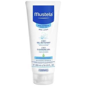 Mustela Gel de curățare 2 în 1 păr și corp, Mustela