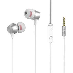 Hoco Casti In Ear Handsfree Hoco M51 1,2 Metri Cu Volum Pe Fir Si Microfon Albe