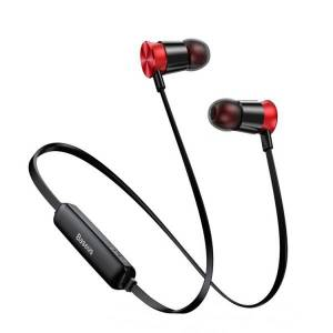 Baseus Casti In Ear Sport Handsfree Baseus Encok Negru - Rosu Ngs07-19 Cu Volum Pe Fir Si Microfon