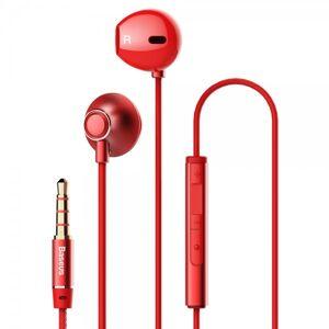 Baseus Casti Handsfree Baseus Encok H06 Cu Telecomanda Pe Fir Si Mufa Jack 3.5mm, Red