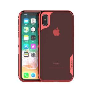 iPaky Husa Spate Ipaky Hybrid Top iPhone X, iPhone 10, Rosu Transparent