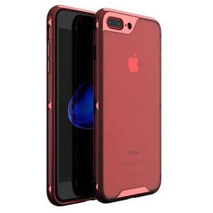 iPaky Husa Spate Ipaky Hybrid Top iPhone 7 Plus / 8 Plus Rosu Transparent