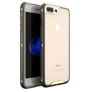 iPaky Husa Spate Ipaky Hybrid Top iPhone 7 Plus / 8 Plus Gold Transparent