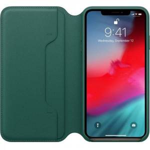 Apple Husa Originala Folio Leather iPhone Xs Max Forest Green Mrx42zm/a