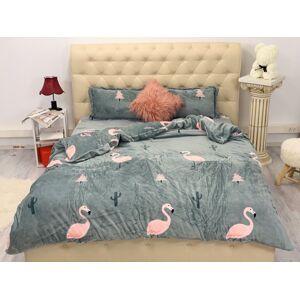 Lenjerie pentru pat dublu pufoasa COCOLINO Flamingo Pink