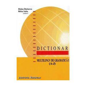Institutul European Dictionar multilingv de gramatica Vol.1 (A-J) - Doina Butiurca, Reka Suba, editura Institutul European