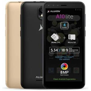 Allview Telefon mobil Allview A10 Lite, Procesor Quad-Core 1.3 GHz, LCD Capacitive touchscreen 5.34inch, 2GB RAM, 16GB FLASH, 8MP, Wi-Fi, 3G, Dual Sim, Android (Negru)