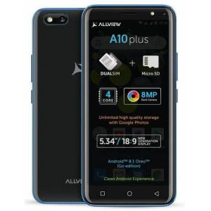 Allview Telefon mobil Allview A10 Plus, Procesor Quad-Core 1.3 GHz, LCD Capacitive touchscreen 5.34inch, 1GB RAM, 8GB FLASH, 8MP, Wi-Fi, 3G, Dual Sim, Android (Negru)