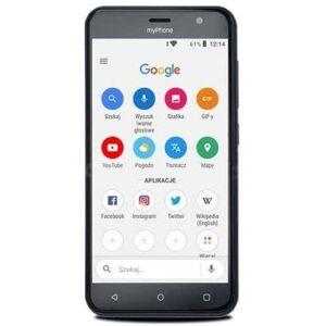 myPhone Telefon Mobil myPhone Fun6 Lite, Ecran 5inch, 512 MB RAM, 8GB Flash, 2MP, Wi-Fi, 3G, Android, Dual Sim (Gri)