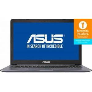 Asus Laptop ASUS VivoBook Pro 15 N580VD-FI683 (Procesor Intel® Core™ i7-7700HQ (6M Cache, 3.80 GHz), Kaby Lake, 15.6inch UHD, 8GB, 1TB HDD @5400RPM + 128GB SSD, nVidia GeForce GTX 1050 @4GB, FPR, Gri)