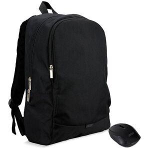 Rucsac Laptop Acer Starter Kit, 15.6inch, Mouse Wireless inclus (Negru)
