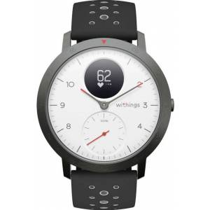 Withings Ceas activity tracker Withings Steel HR Sport 40mm, Bluetooth, Rezistenta la apa (Negru/Alb)
