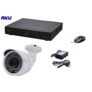 AKU Kit Supraveghere Video AKU Ak9103, 1 camera interior/exterior, 1MP, DVR 4 canale, Compresie H264, AHD