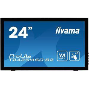 IIYAMA Monitor VA LED iiyama 23.6inch T2435MSC-B2, Full HD (1920 x 1080), Touch, DVI, HDMI, DisplayPort, USB, 6 ms, Boxe (Negru)
