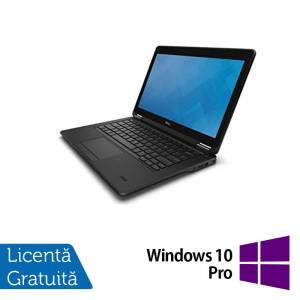 Dell Laptop Dell Latitude E7250, Intel Core i5-5300U 2.30GHz, 8GB DDR3, 240GB SSD, 12 Inch + Windows 10 Pro