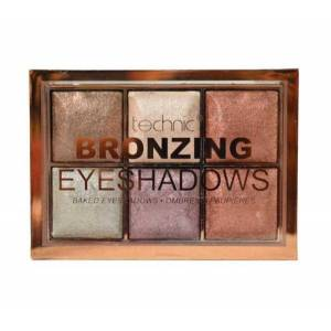 Technic Paleta de farduri cu pigmenti Iluminatori Technic Bronzing 6 Colour Baked Eyeshadow Palette 6 X 2 g
