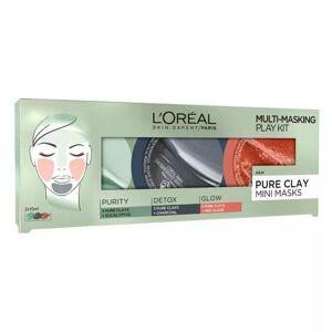 L'Oreal Kit 3 Masti pentru Ten L Oreal 3 Pure Clays Multi Masking Face Mask Play Kit 3 x 10 ml