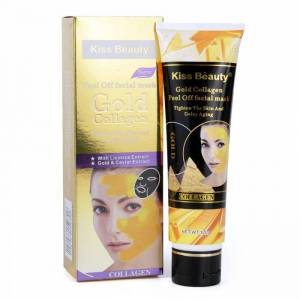 Kiss Masca de fata exfolianta cu Aur, Colagen si Extract de Caviar, Kiss Beauty Gold Mask, 120 g