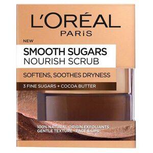 L'Oreal Scrub exfoliant cu zahar pentru ten uscat L Oreal Paris Smooth Sugars Nourish Scrub 50 ml