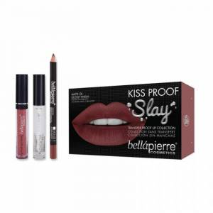 Bellapierre Set Rezistent la Transfer pentru Buze Bellapierre Kiss Proof Slay Transfer Lip Collection Muddy Rose