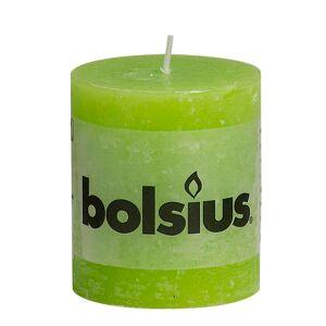 Bolsius Lumânare bloc rustică, 6 buc., verde lime, 80 x 68 mm