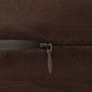 vidaXL Huse de pernă din velur poliester, 50 x 50 cm, maro, 4 buc.