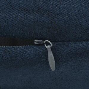 vidaXL Huse de pernă din velur poliester, 80x80 cm, bleumarin, 4 buc.