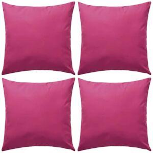 vidaXL Perne de exterior, 4 buc., roz, 45 x 45 cm