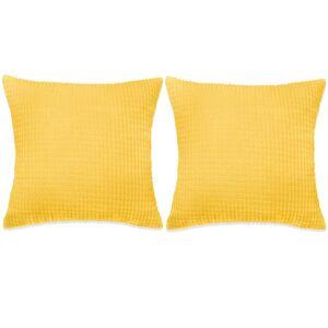 vidaXL Set perne decorative 2 buc. Velur 60 x 60 cm Galben