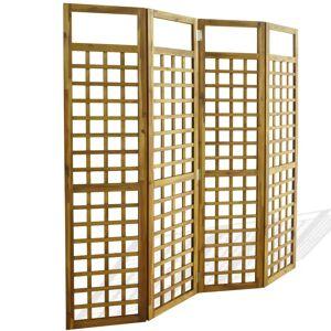 vidaXL Separator cameră cu 4 panouri, nuiele lemn acacia, 160x170 cm