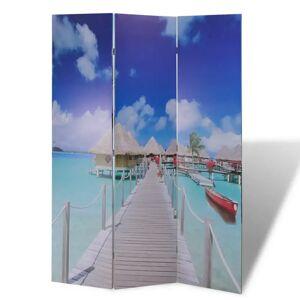 vidaXL Paravan de cameră pliabil, 120 x 170 cm, plajă