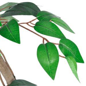 vidaXL Ficus artificial cu aspect natural și ghiveci, 160 cm