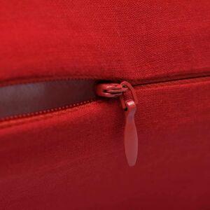 vidaXL Huse de pernă din bumbac, 50 x 50 cm, roșu, 4 buc.
