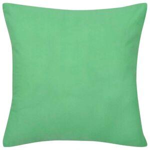 vidaXL Huse de pernă din bumbac, 40 x 40 cm, măr verde, 4 buc.