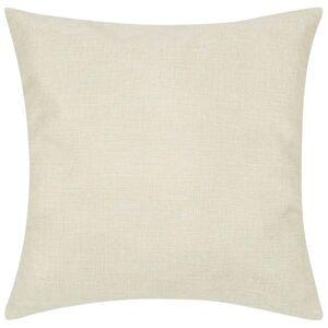 vidaXL Huse de pernă cu aspect de pânză, 80 x 80 cm, bej, 4 buc.