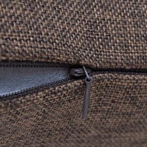 vidaXL Huse de pernă cu aspect de pânză, 40 x 40 cm, maro, 4 buc.