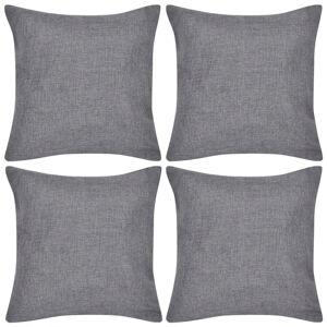 vidaXL Huse de pernă, imitație de in, 40 x 40 cm, antracit, 4 buc.