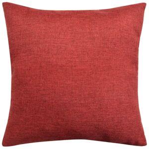 vidaXL Huse de pernă cu aspect de pânză, 80 x 80 cm, burgundy, 4 buc.