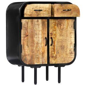 vidaXL Servantă, 60x30x75 cm, lemn masiv de mango și fier