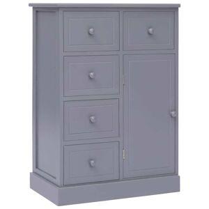 vidaXL Servantă cu 10 sertare, gri, 113 x 30 x 79 cm, lemn