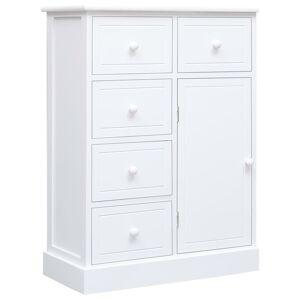 vidaXL Servantă cu 10 sertare, alb, 113 x 30 x 79 cm, lemn