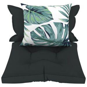vidaXL Perne de canapea din paleți, 3 buc., antracit, material textil
