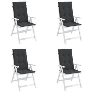 vidaXL Perne scaun de grădină, 4 buc., negru, 120 x 50 x 3 cm
