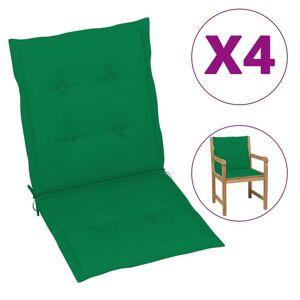 vidaXL Perne scaun de grădină, 4 buc., verde, 100 x 50 x 3 cm