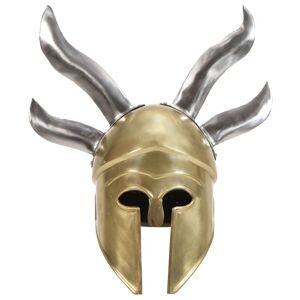 vidaXL Coif războinic grec aspect antic, joc de rol, alamă, oțel